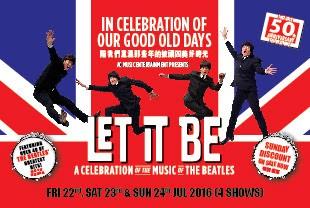 香港的披頭四和音樂劇迷們! 千萬別錯過了曾在來倫敦西區劇場及百老匯等地演出的 LET IT BE! 被譽為倫敦西區最受歡迎的劇場節目之一, Let It Be Musical Live in Hon...